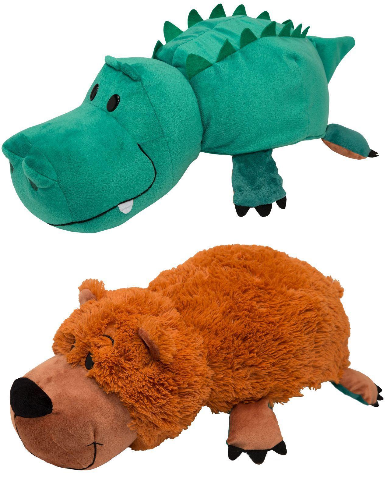 Купить 1Toy Аллигатор - Медвежонок 20 см - мягкая игрушка-вывернушка, Вывернушки 1Toy, Китай