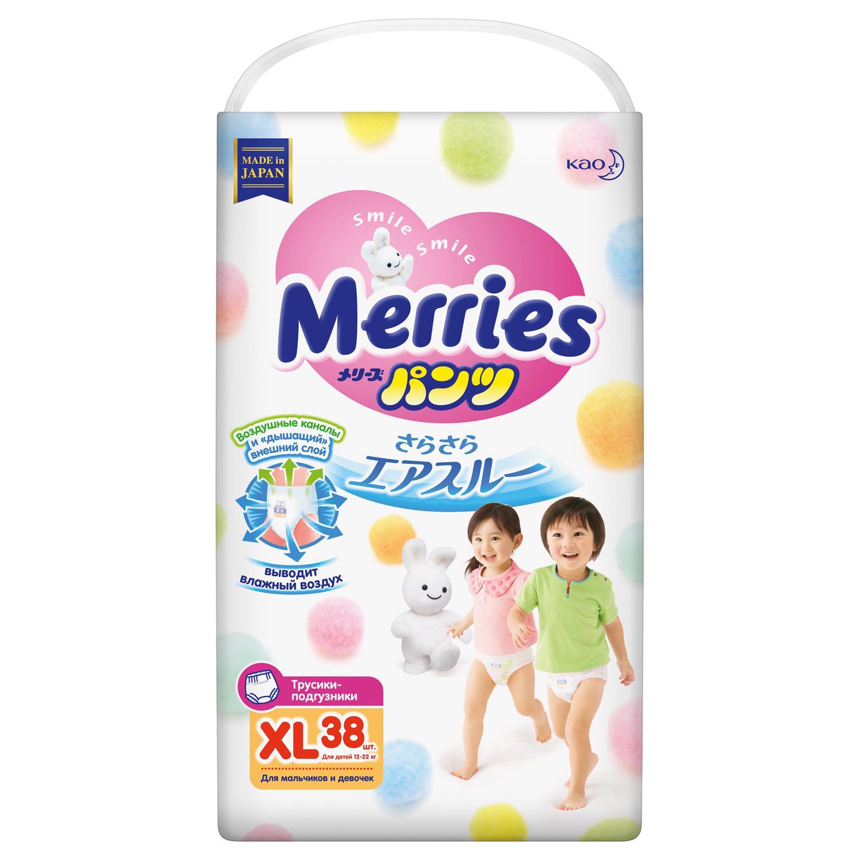 Купить Merries Подгузники-трусики (XL 12-22кг), 38шт, Япония