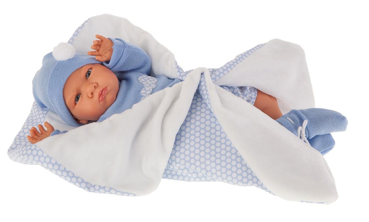 Antonio Juan 1954B Кукла Эдурне в голубом,озвученная (детский лепет),52 см