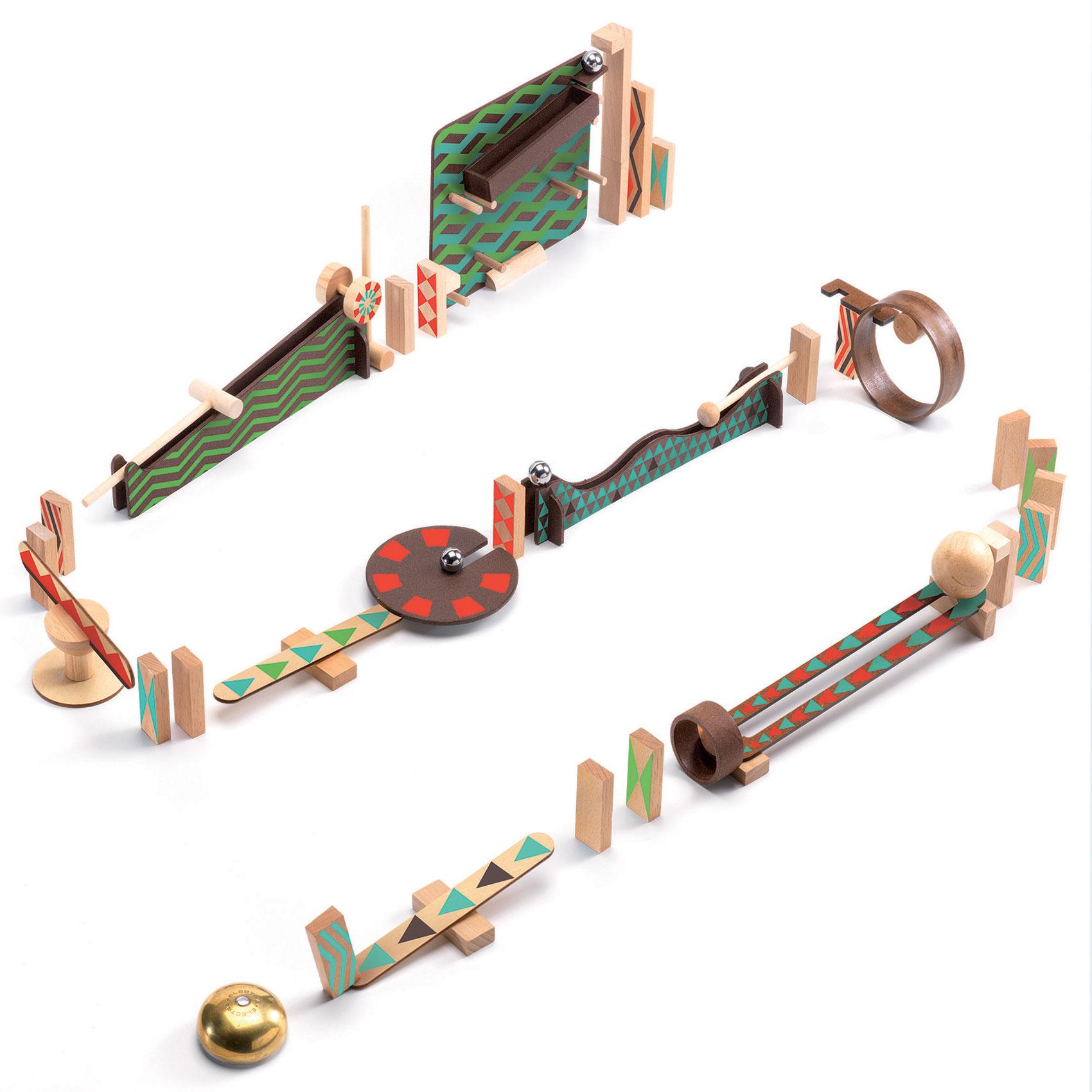 Купить DJECO Деревянный конструктор Zig & Go, 48 деталей, Франция