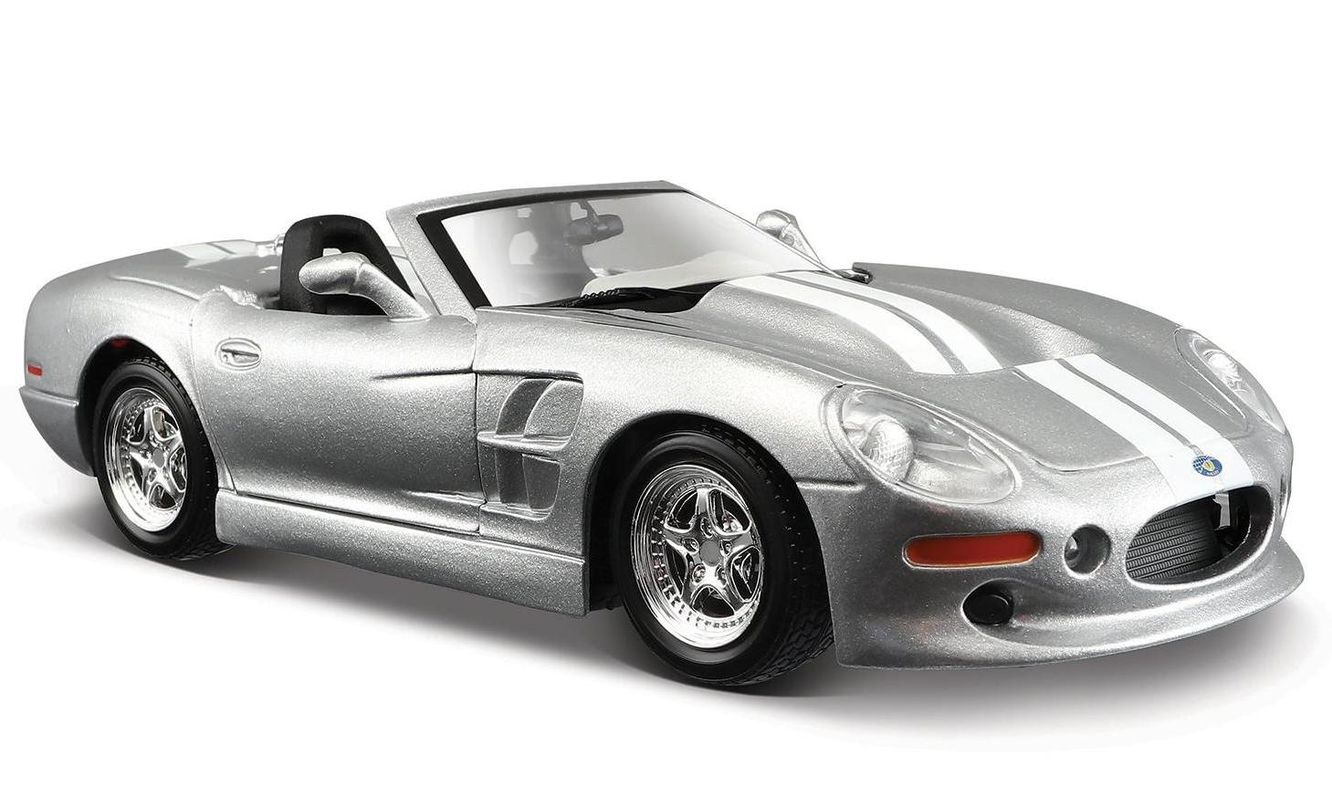 Машинка Maisto 1:24 Shelby Series One 1999, серебристая