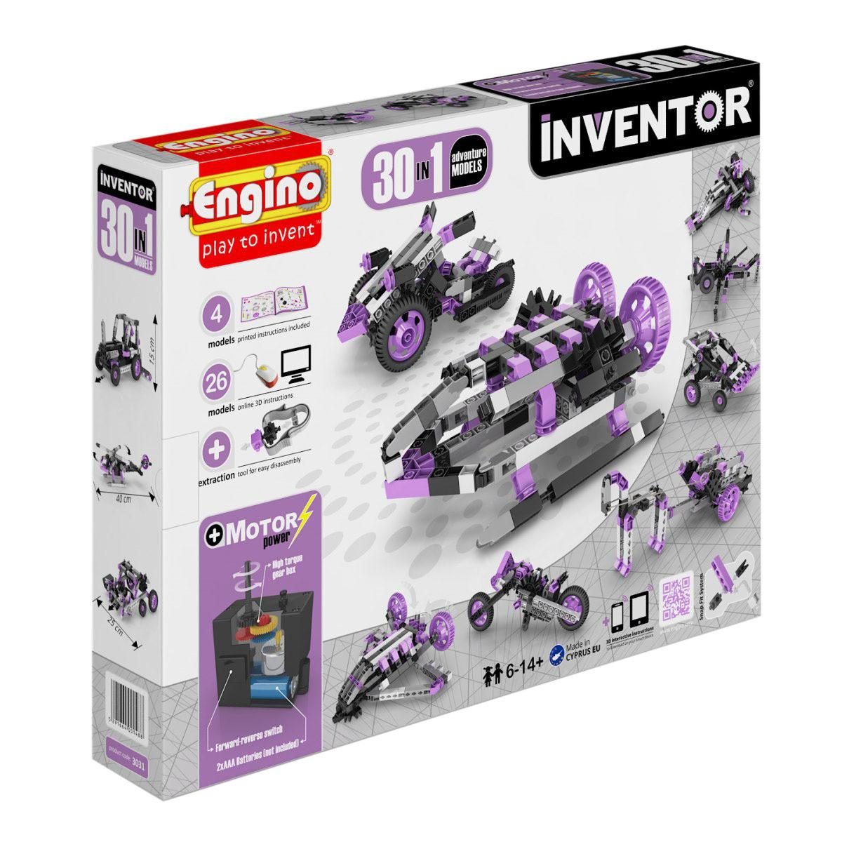 Конструктор ENGINO 3031 INVENTOR. Набор из 30 моделей с мотором. Приключения