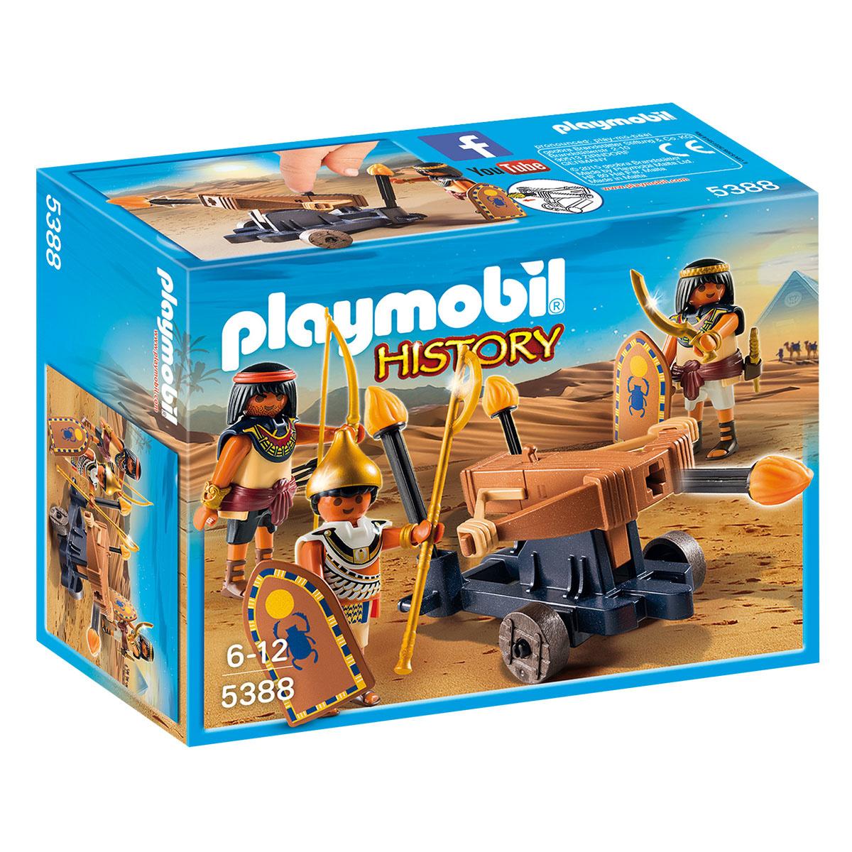 Купить Playmobil Конструктор Римляне и Египтяне: Египетский солдат с Баллистой, Мальта