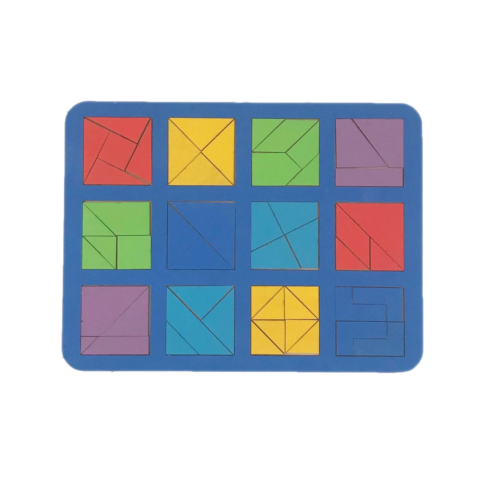 Купить Woodland Сложи квадрат - Б.П.Никитин - рамка вкладыш | 12 квадратов, 2-ой уровень, Россия