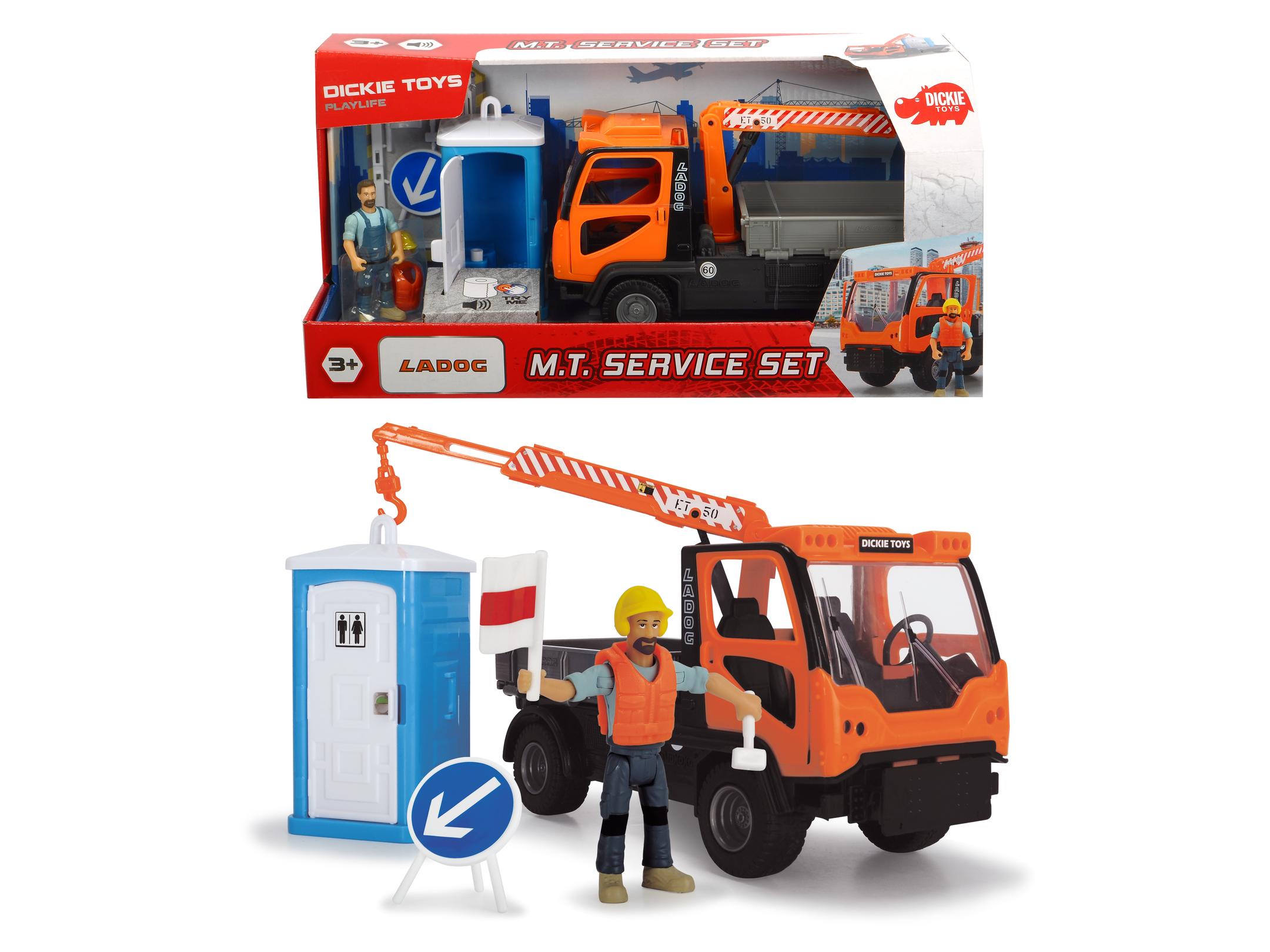 Купить Dickie Toys игровой набор Санитарный сервис 7 аксессуаров Playlife, 21.5 см, свет, звук, 3835005, Китай
