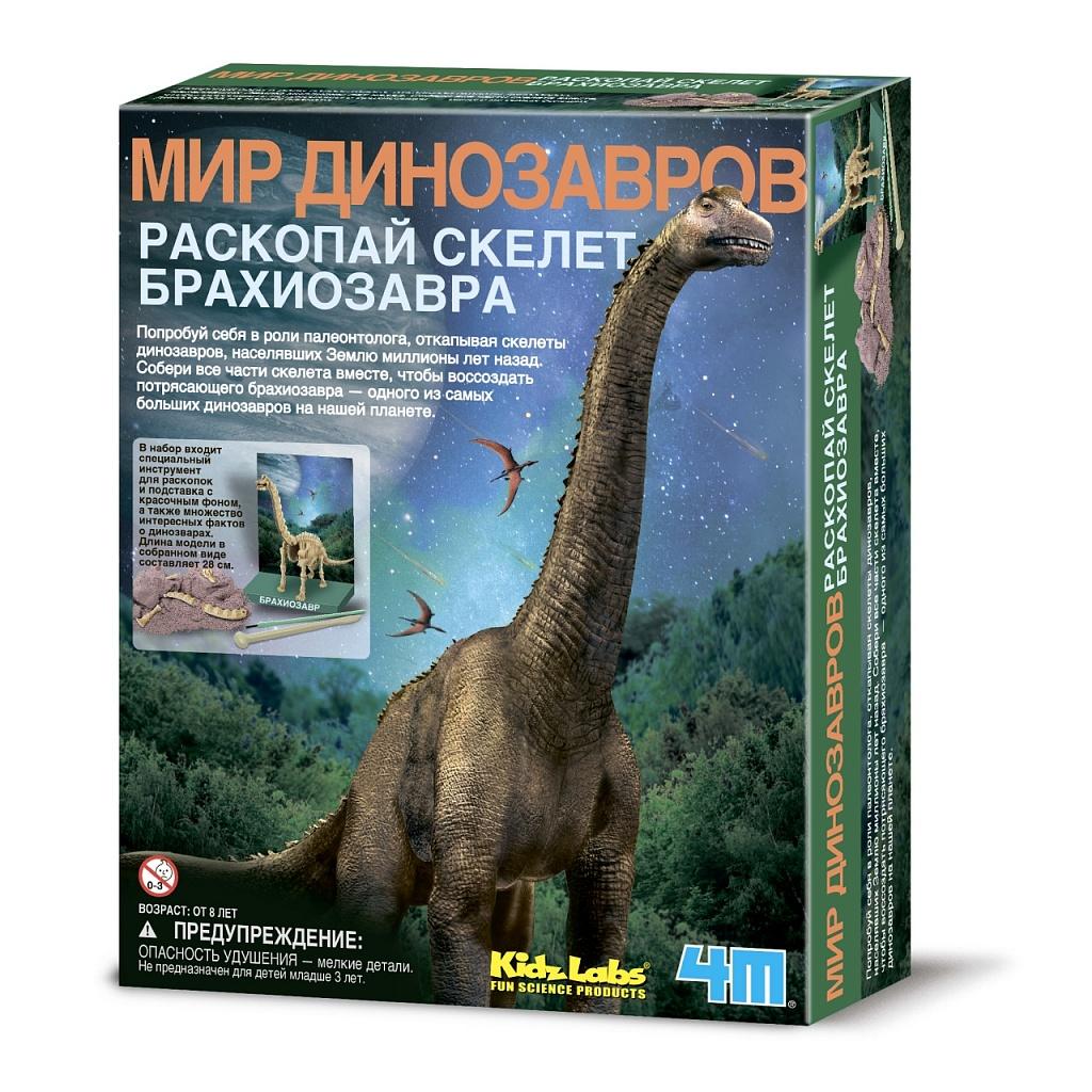 Купить Набор для раскопок 4M Откопай скелет динозавра. Брахиозавр, Китай