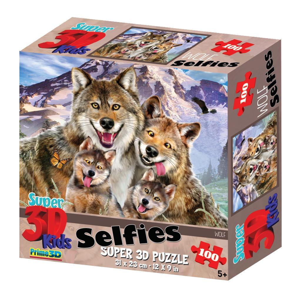 Купить Стерео пазл PRIME 3D Волки селфи 13669, Китай
