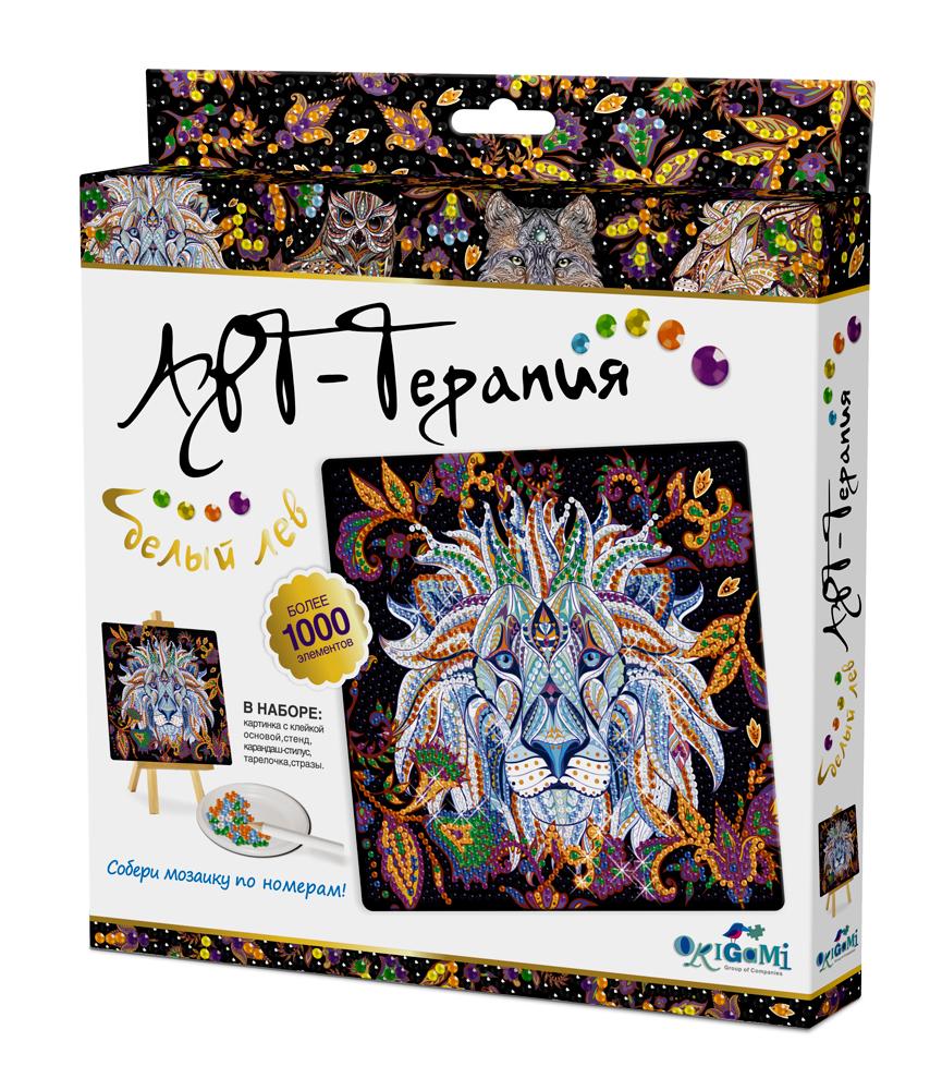 Купить Набор для творчества ORIGAMI 03217 Алмазные узоры, Белый лев, Китай