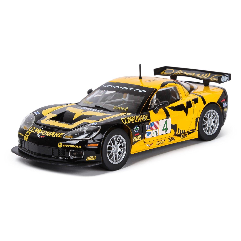 Купить Bburago машинка 1:24 RACING - Chevrolet Corvette C6R жёлто-черный, Китай