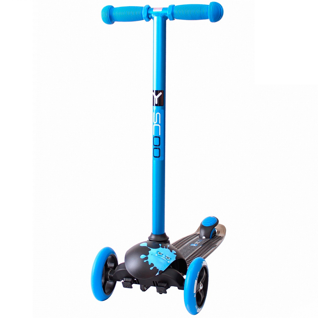 Купить Y-SCOO Самокат RT TRIO DIAMOND 120 Monsters Ziggi голубой, Китай