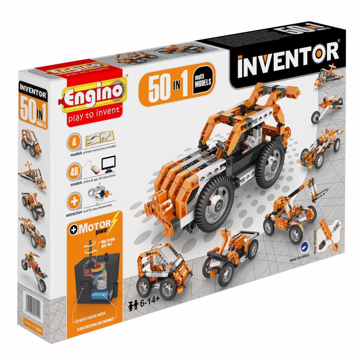 Конструктор ENGINO 5030 INVENTOR Набор из 50 моделей с мотором