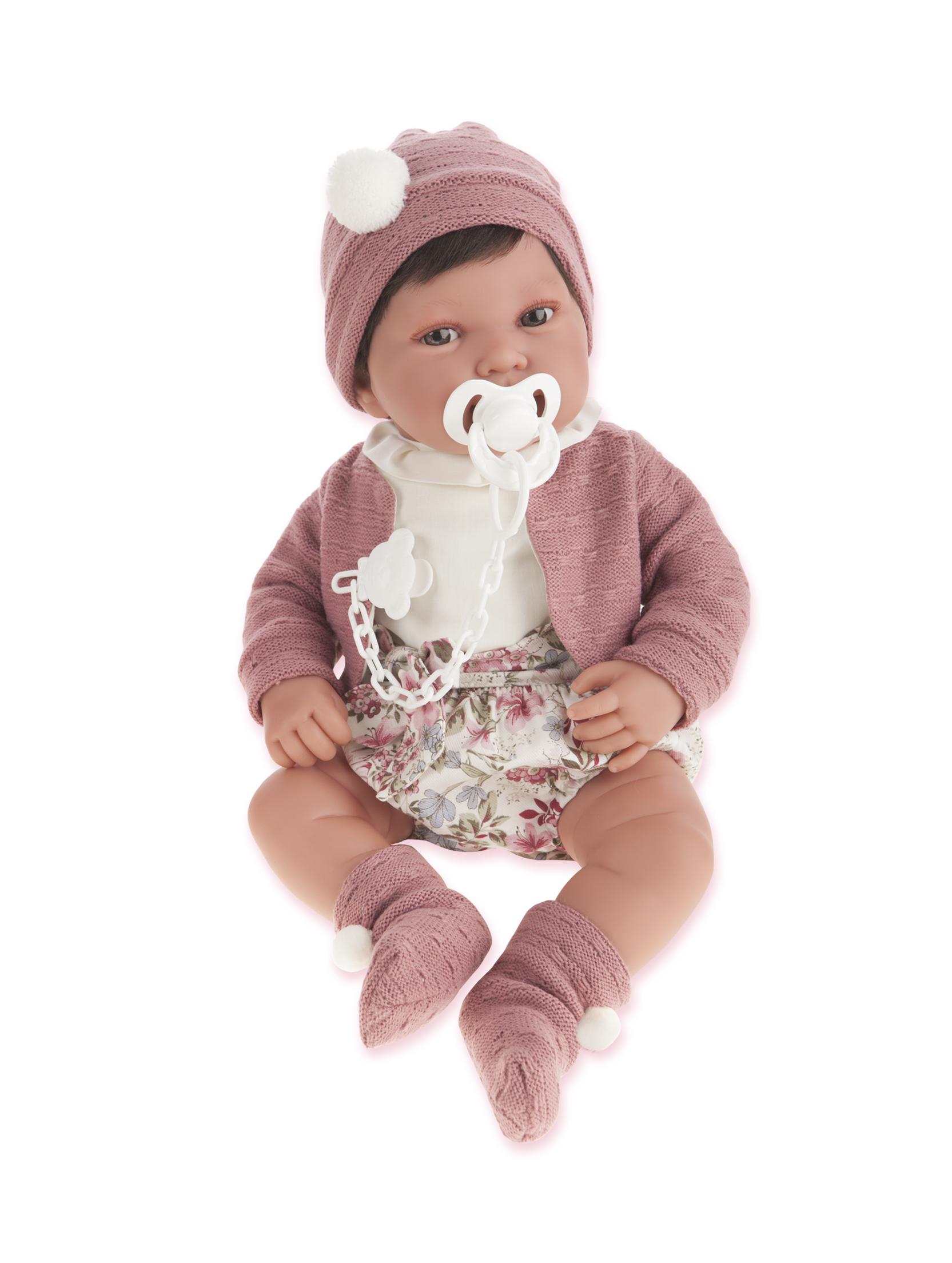 Antonio Juan 3369W Кукла Сэнди в розовом,40 см