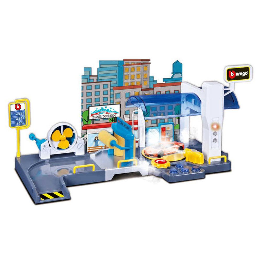 Bburago Игровой набор Street Fire Автомойка Car Wash Playset, 18-30406