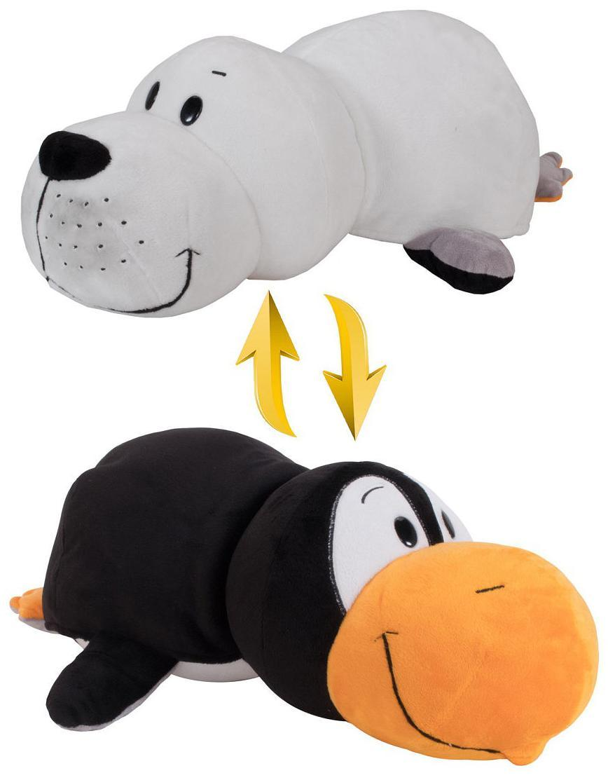 Купить Мягкая игрушка-вывернушка 1toy Пингвин - Морской котик, 20 см, Вывернушки 1Toy, Китай