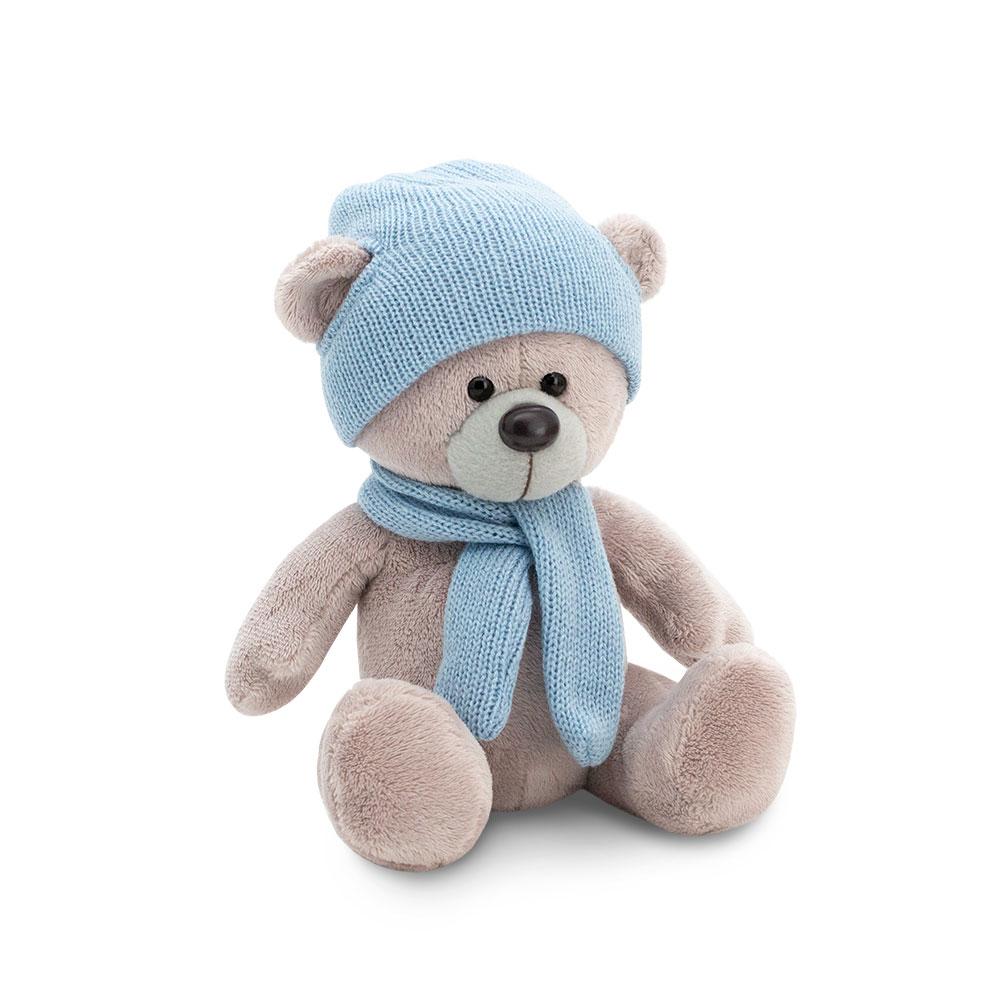 Купить Orange Мягкая игрушка Медведь Топтыжкин серый, шапка, шарф , 25 см, Китай