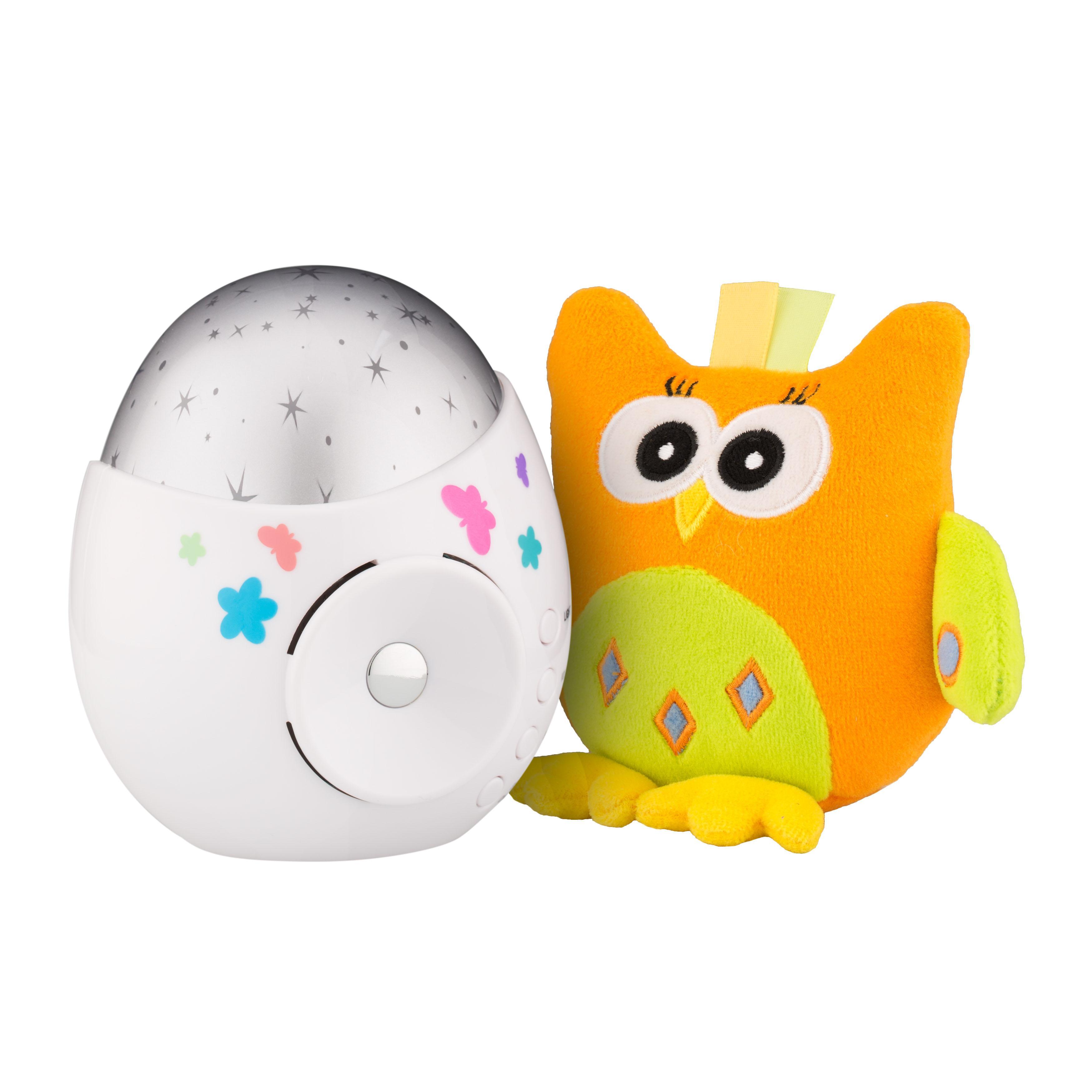 Купить Roxy-kids Ночник-проектор звездного неба «Colibri» с совой, Китай
