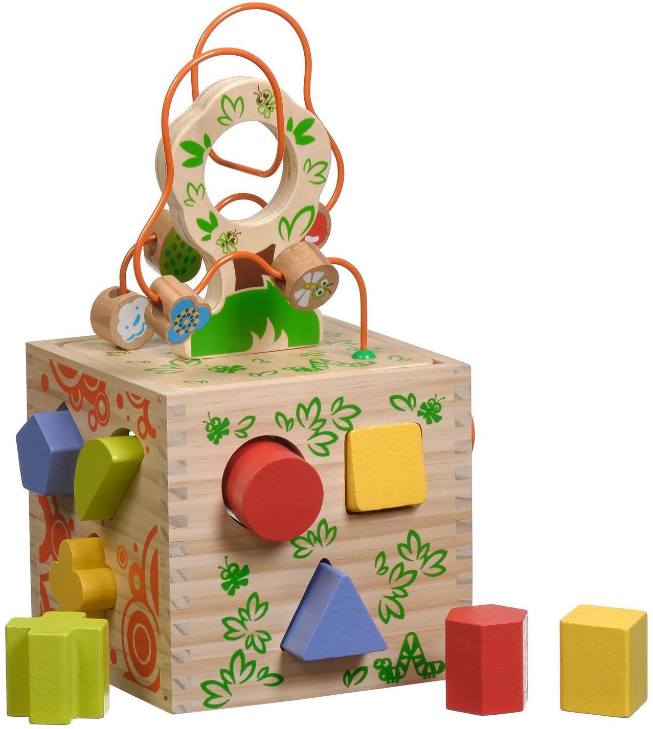 Купить МДИ Логический кубик | Д014 - деревянный сортер-лабиринт, Мир деревянных игрушек, Китай