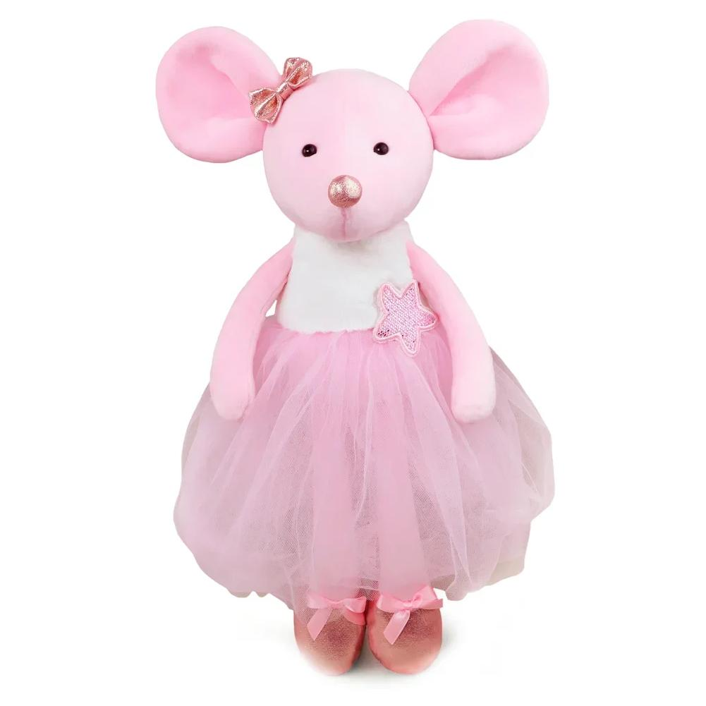 Купить МимиЛапки Мягкая игрушка Мышка Балерина Мия , 38 см, Россия