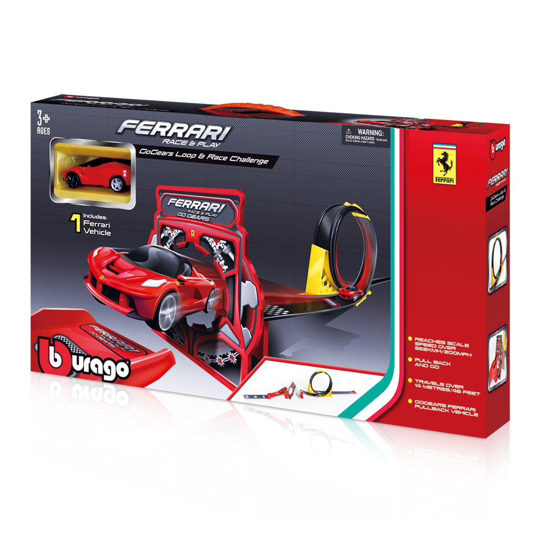 Bburago 31302 Автотрек FERRARI RACE AND PLAY GOGEARS LOOP AND RACE CHALLENGE