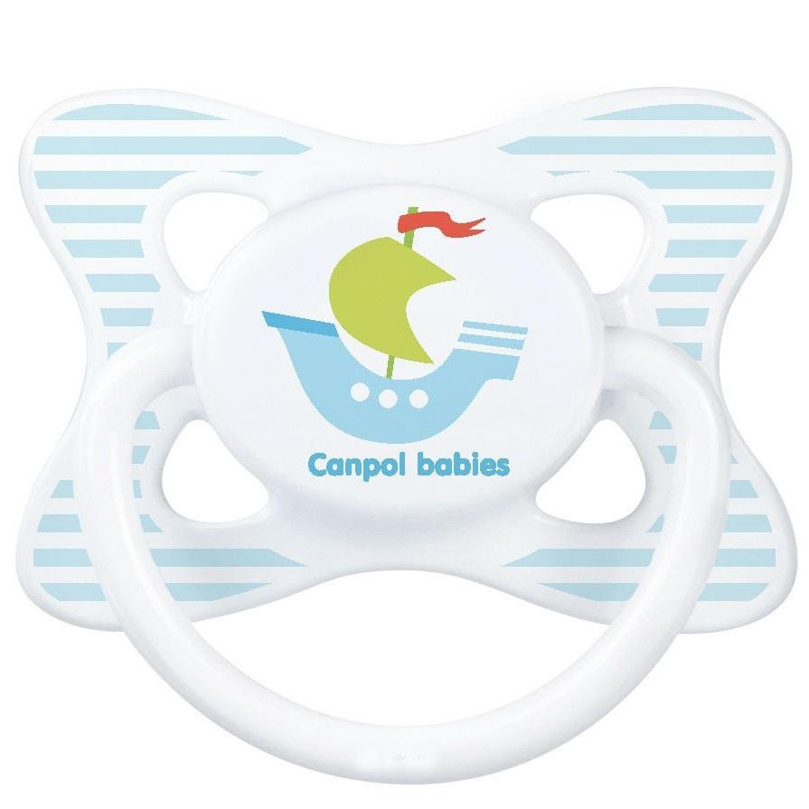 Купить Canpol Summertime Пустышка симметричная, силиконовая, 0-6 месяцев, рисунок Кораблик, 23/460, Польша