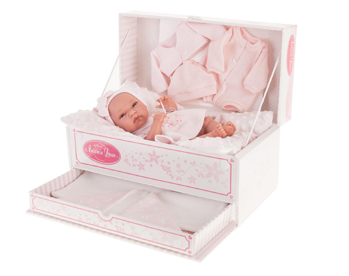 Antonio Juan Кукла-младенец Фиона в розовом, 33 см