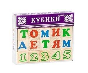 Купить Кубики ТОМИК 2222-2 Алфавит с цифрами русский (20 шт), Томик, Россия