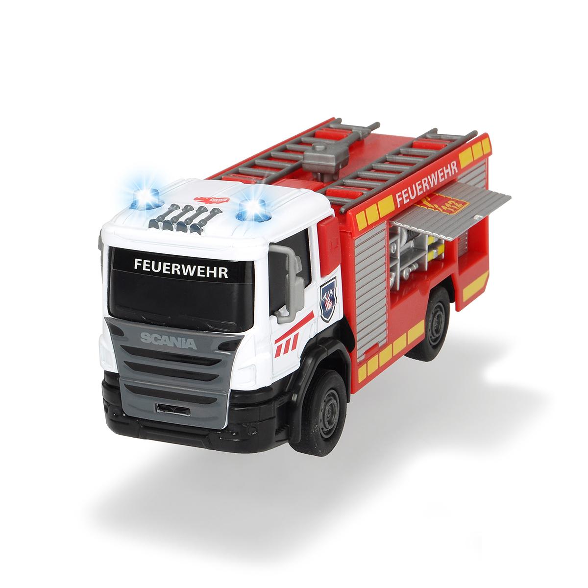 Купить Dickie Toys Пожарная машинка SCANIA die-cast 17 см, свет, звук, 3712016, Китай