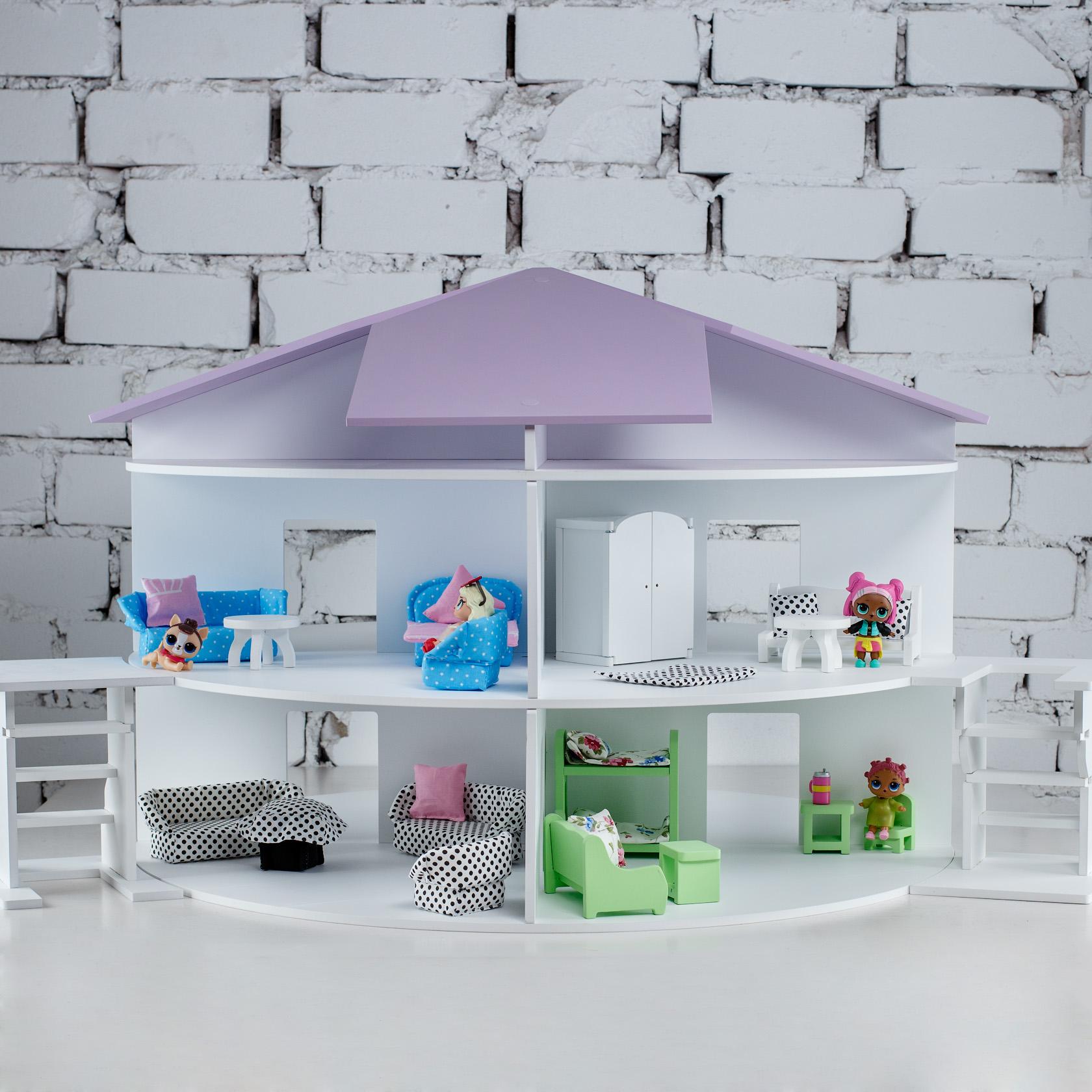 Купить Коняша Кукольный домик Волшебная арена , с мебелью, Россия