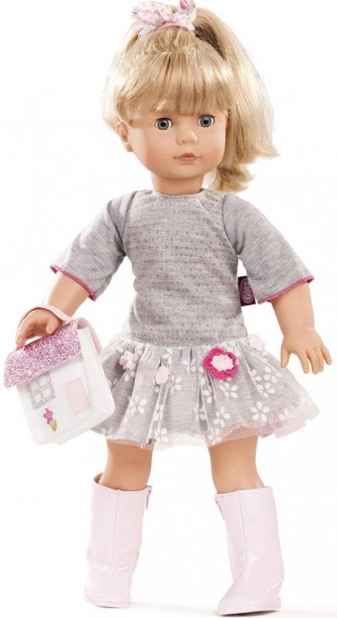 """Gotz """"Кукла Джессика - блондинка в сером платье 46 см"""""""