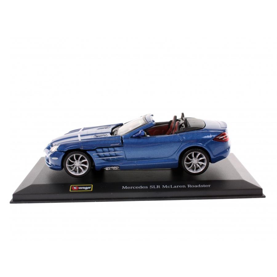 Купить Bburago машинка коллекционная 1:32 PLUS Mercedes SLR McLaren Roadster синий, Китай