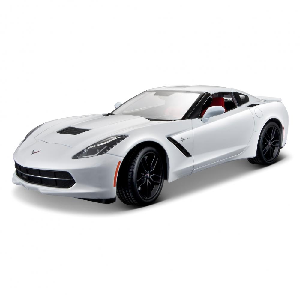 Купить Maisto Машинка Chevrolet Corvette Stingray Z51 1:18 Год 2014, белый, Китай