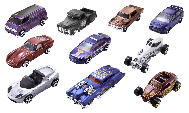 Hot Wheels Подарочный набор из 10 машинок