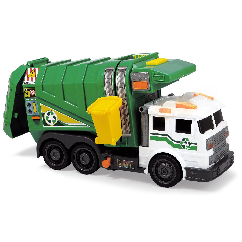 Купить Dickie Toys машинка Мусоровоз зеленый 39 см, свет, звук 3308378, Китай