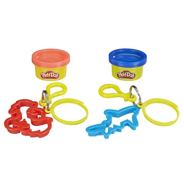 Купить Hasbro Play-Doh Масса для лепки с 2-мя брелками - красный и синий - игровой набор, Китай