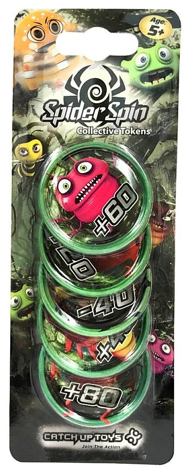 CATCHUP TOYS Жетоны Spider Spin. Collective Tokens (Green) SS-002T-GRE