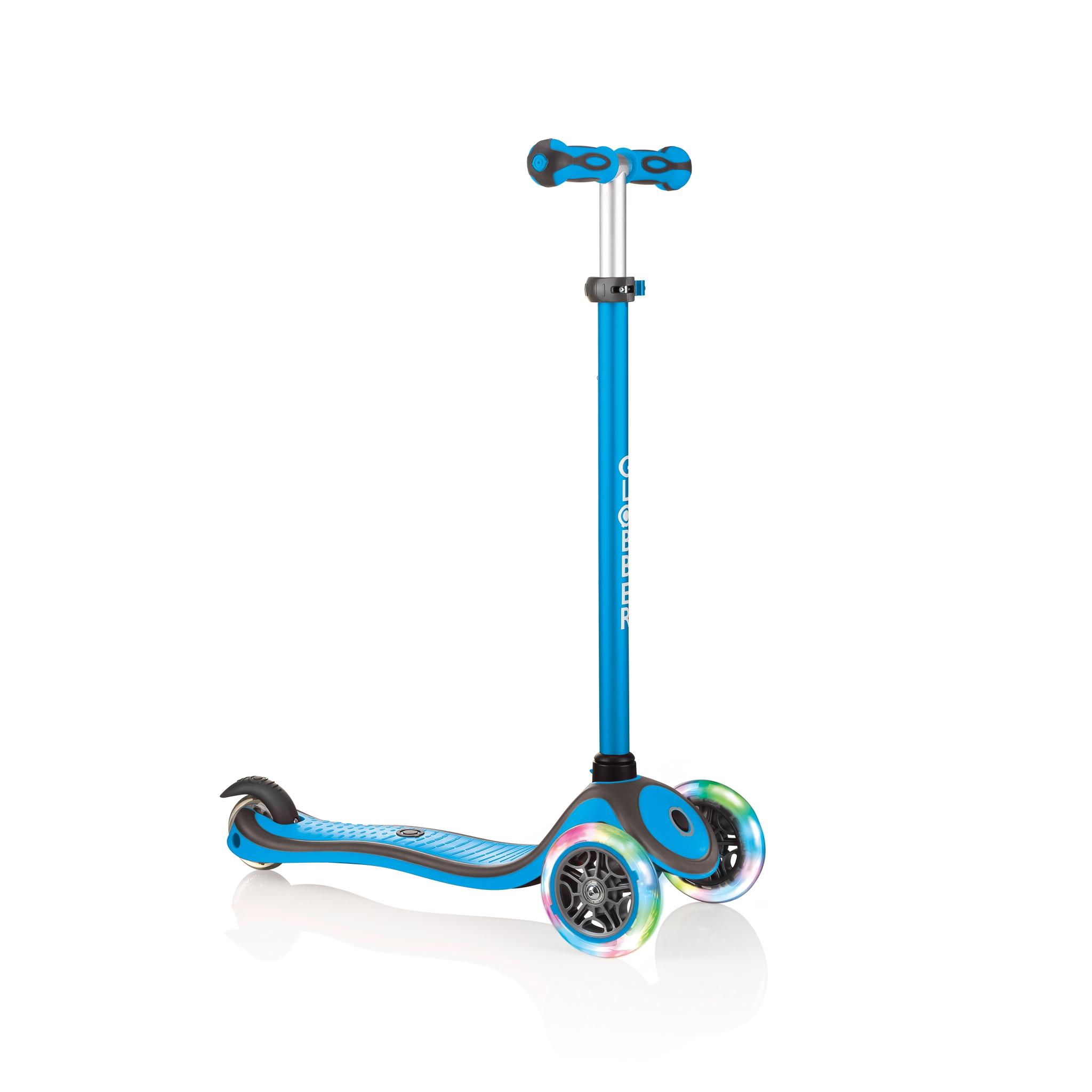 Купить Globber Самокат Primo Plus Lights Color, светящиеся колеса, голубой, Китай