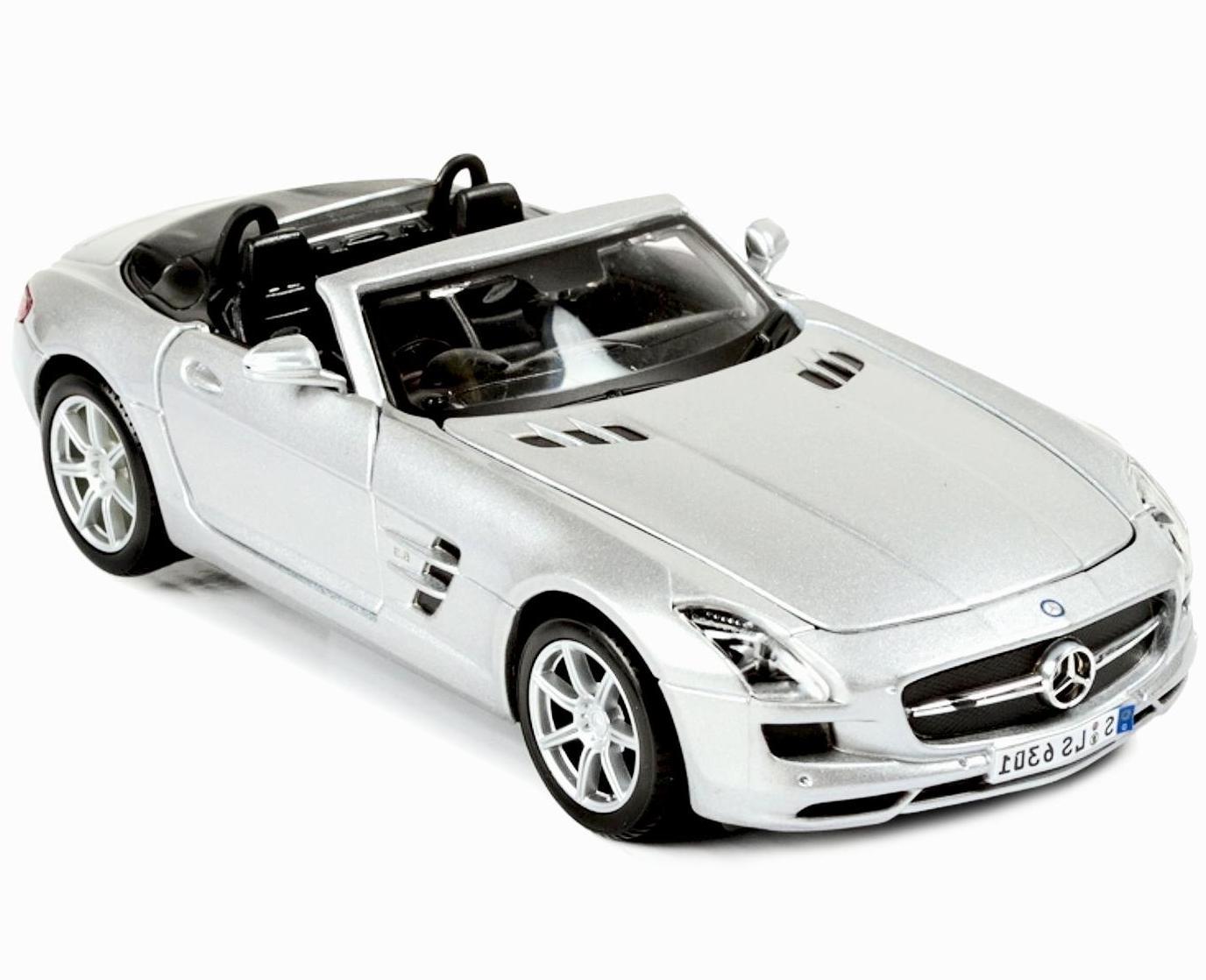 Купить Машинка Maisto 1:24 Mercedes-Benz SLS AMG Roadster, белая, Китай