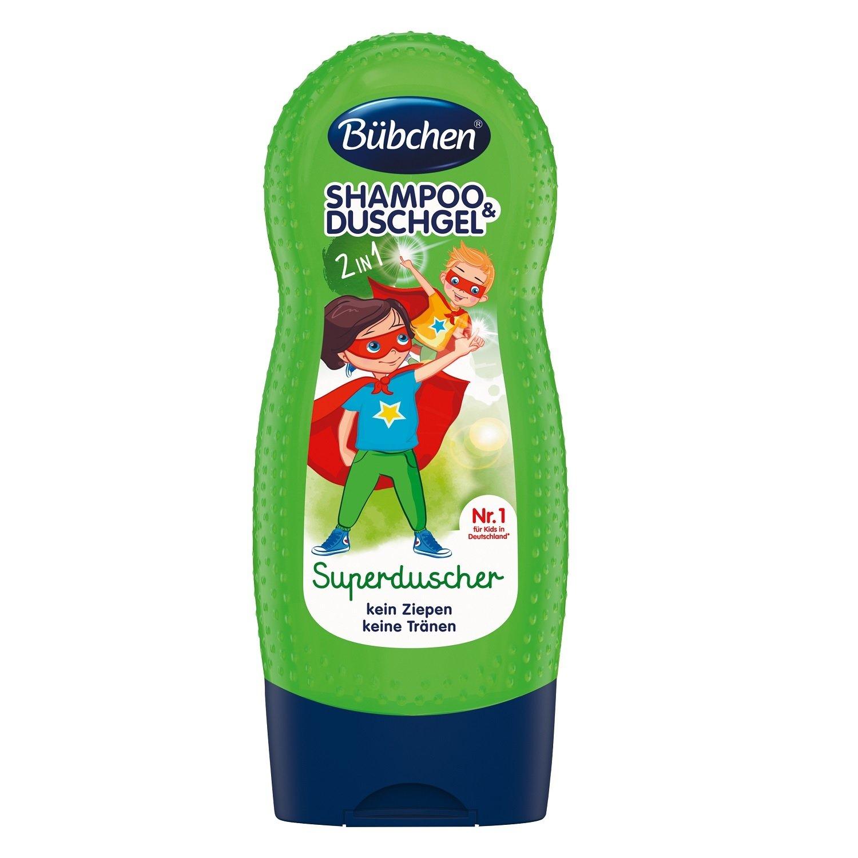 Купить Bubchen Детский шампунь и гель для душа «Супергерой» 2 в 1, 230 мл., Германия