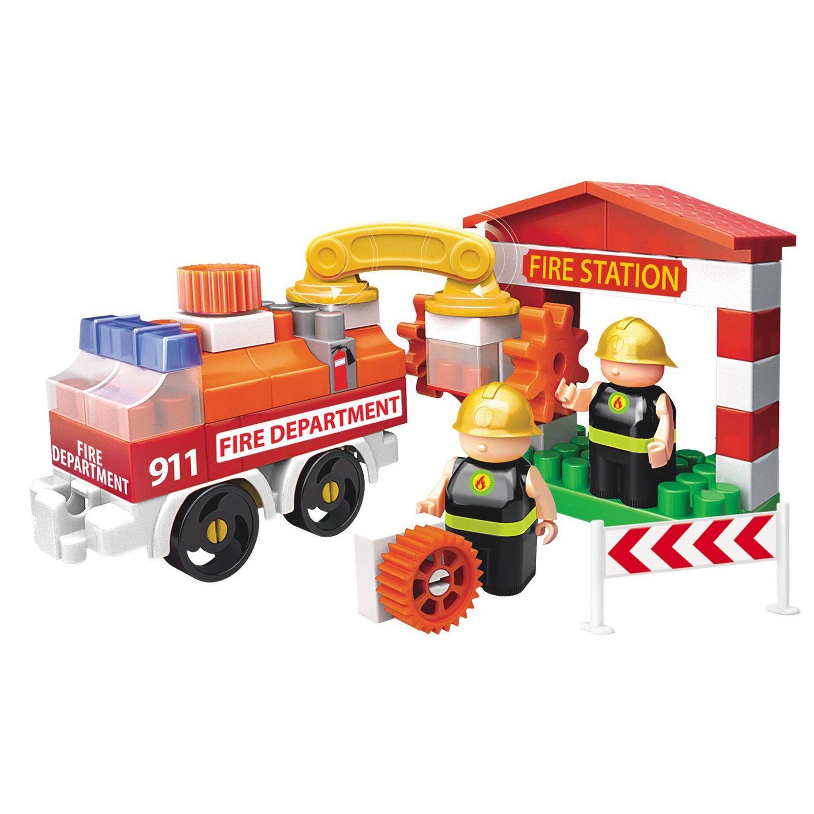 Купить Bauer Конструктор Fireman Пожарная машина и пожарный гидрант 739, Россия