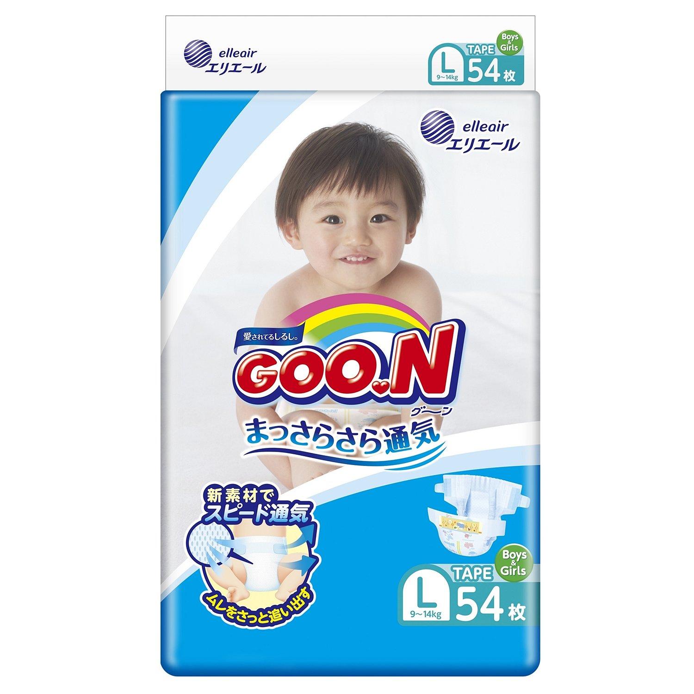 Купить Подгузники Goon L (9-14 кг), 54 шт, Goo.n, Япония