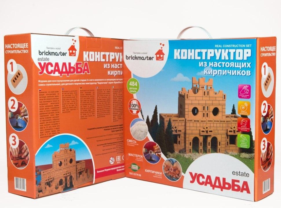 Купить BRICKMASTER Усадьба - конструктор кирпичный   484 деталей, Россия