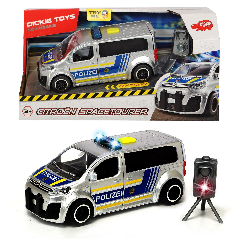 Купить Dickie Toys машинка Полицейский минивэн Citroen SpaceTourer фрикционный, 15см, свет, звук, 3713010, Китай