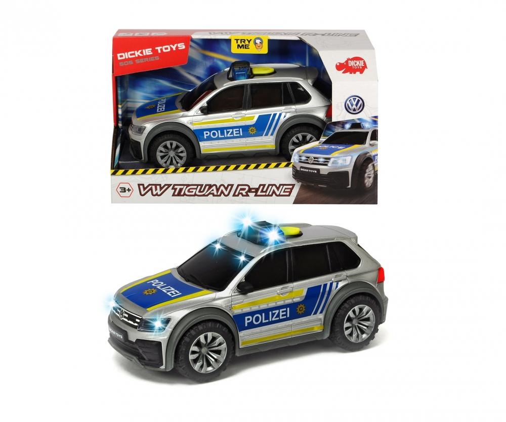 Купить Dickie Toys Машинка Полицейский автомобиль VW Tiguan R-Line 25 см, свет, звук, 3714013, Китай