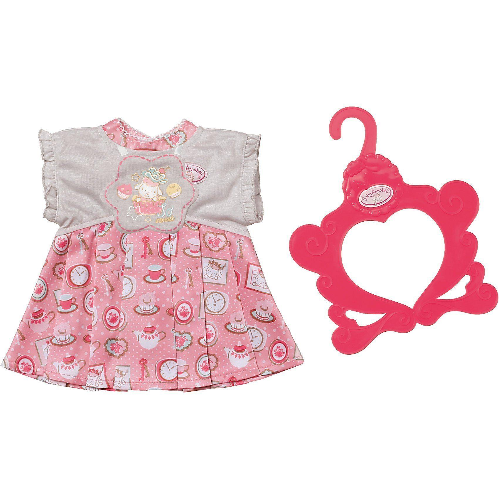 Платье Baby Annabell серо - розовое, 46 см