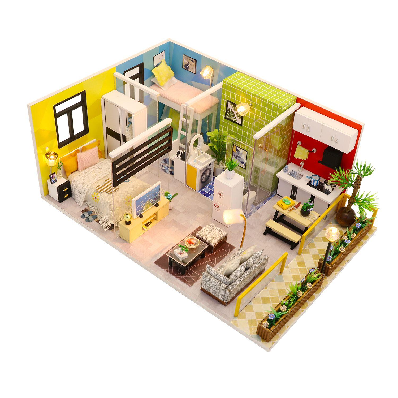 Купить Румбокс DIY MINI House Квартирный вопрос , Diy House, Китай