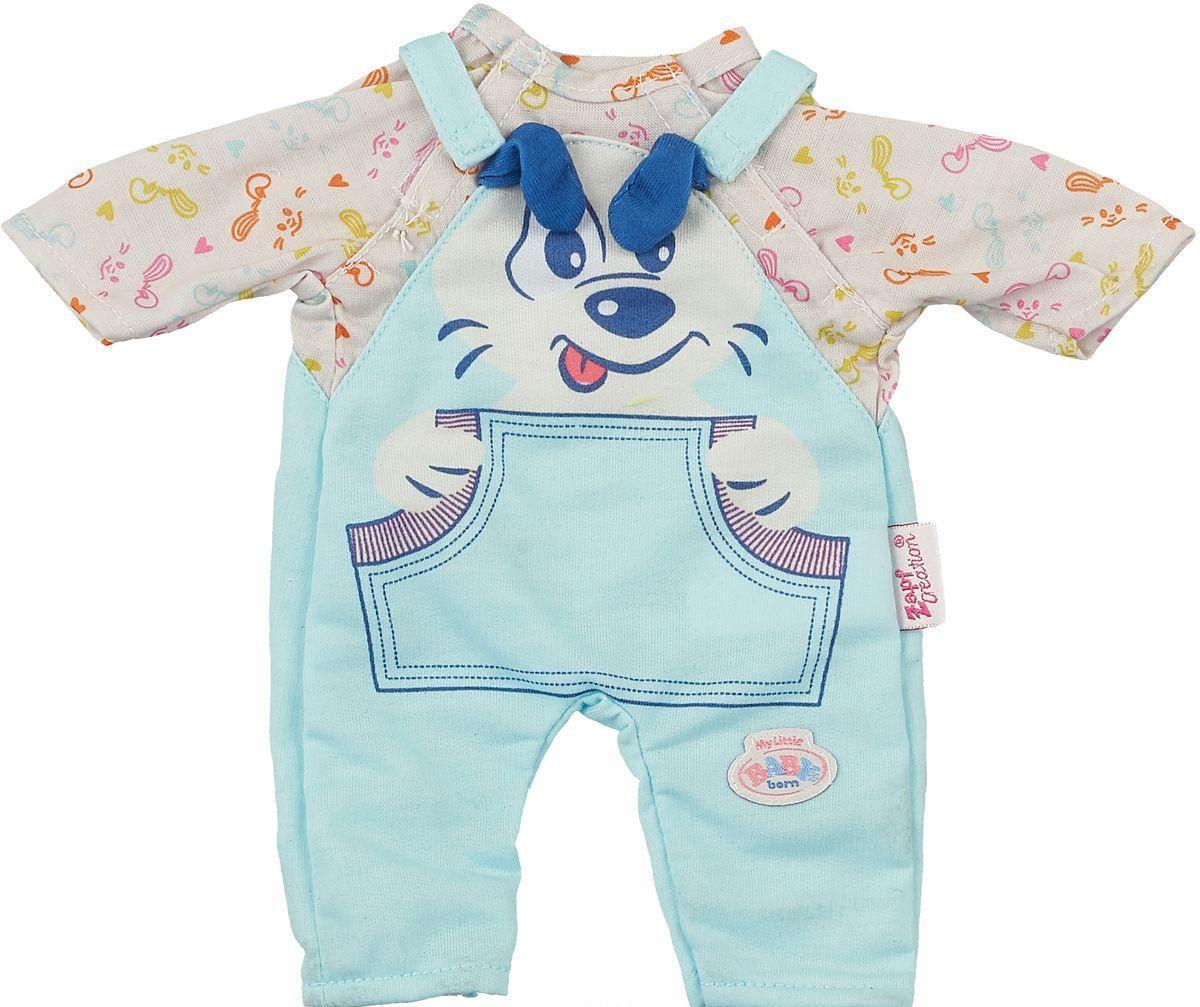My little BABY born Одежда для куклы 32 см, комбинезон голубой