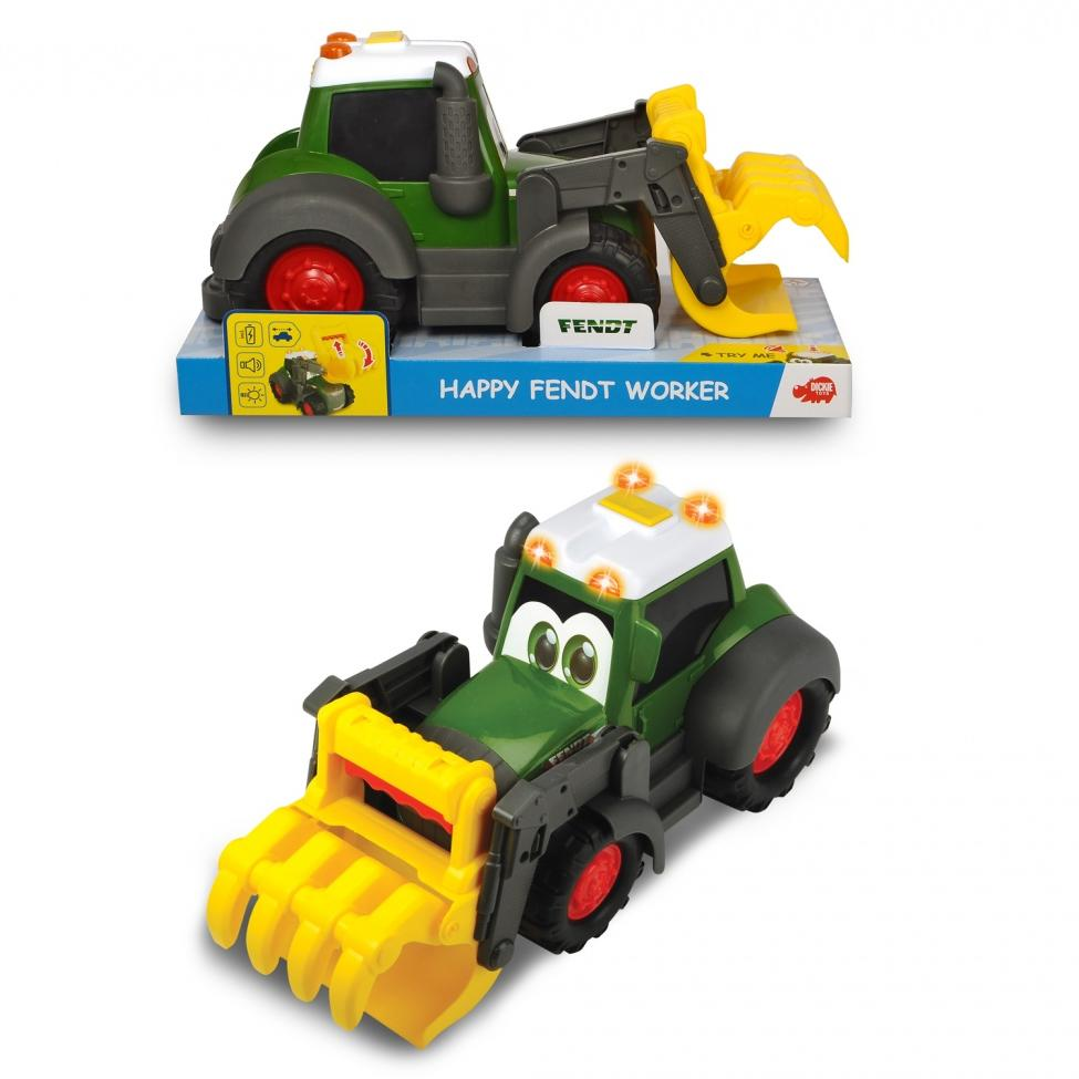 Купить Dickie Toys погрузчик Happy Fendt Worker 30 см, свет, звук, 3815010, Китай