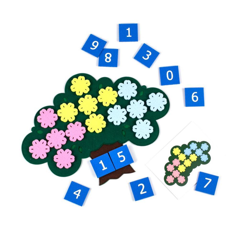 Купить Фетров Развивающая игра Дерево с цветочками , Россия