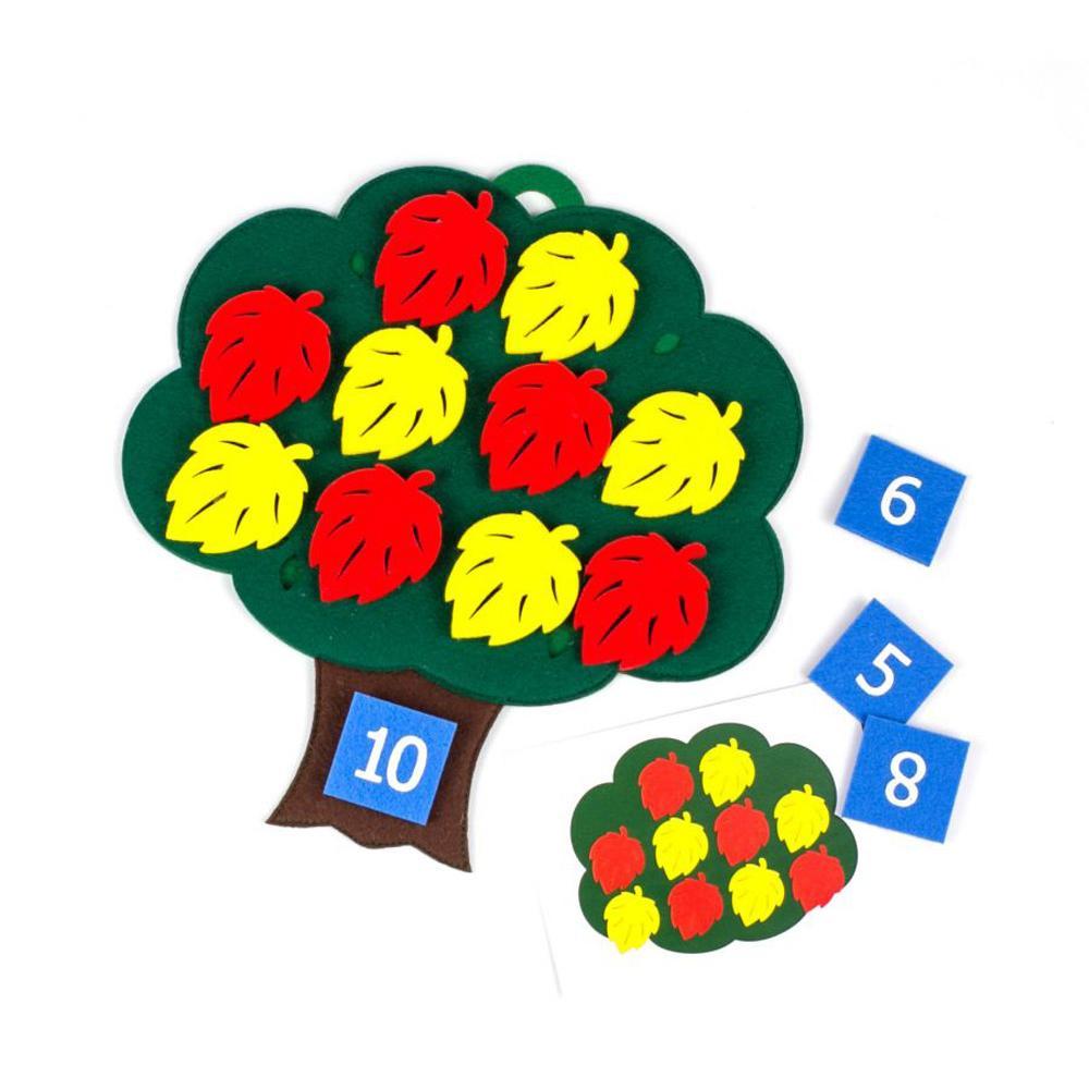 Купить Фетров Развивающая игра Дерево с листьями , Россия