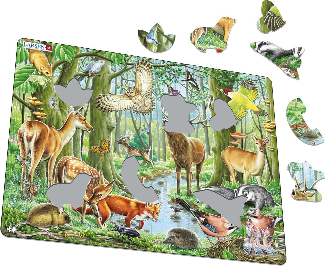 Купить Пазл Larsen «Европейский лес» 40 деталей, Норвегия